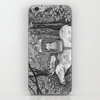 Fox riding moose iPhone & iPod Skin