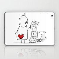 I Love You... A Lot. Laptop & iPad Skin