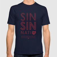 Locals Only — Sinsinnati, OH Mens Fitted Tee Navy SMALL