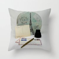 Love Letters From Paris 2 Throw Pillow