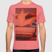 Books Mens Fitted Tee Pomegranate SMALL
