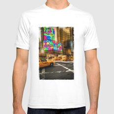 New York - Van Wagner SMALL White Mens Fitted Tee