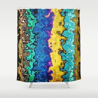 Macro Molecules of Color Shower Curtain