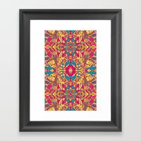 Eye Of The Beast Pattern Framed Art Print