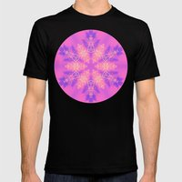 Alien pink snowflake Mens Fitted Tee Black SMALL