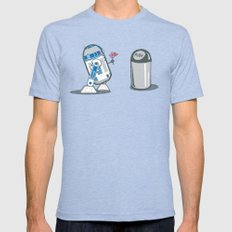 Robot Crush Mens Fitted Tee Tri-Blue SMALL