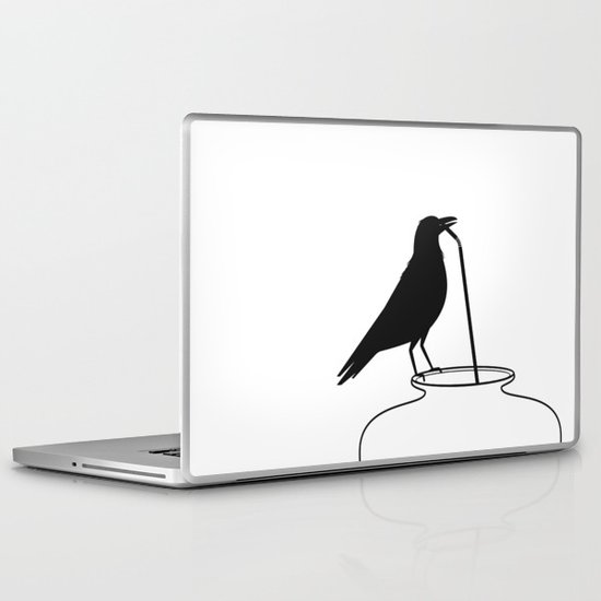 Thirsty crow Laptop & iPad Skin