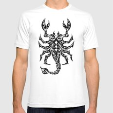 Scorpio Mens Fitted Tee White SMALL