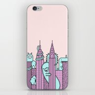 Monster Invasion Colored iPhone & iPod Skin