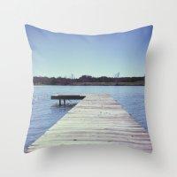 Lone Dock Throw Pillow