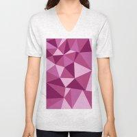 Pink Geometric Unisex V-Neck