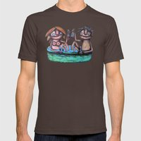In the bath Mens Fitted Tee Brown SMALL
