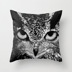 My Eyes Have Seen You (Owl) Throw Pillow