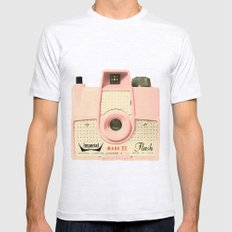 Think Pink Mens Fitted Tee Ash Grey SMALL