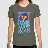 the owl of cthulu Womens Fitted Tee Lieutenant SMALL