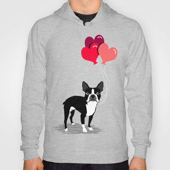 Boston Terrier Valentine Heart Balloons For Pet Owners And