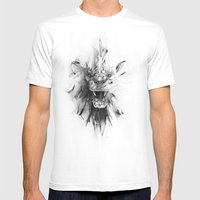 STONE LION Mens Fitted Tee White SMALL