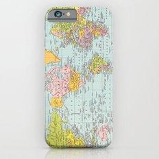 World Map Slim Case iPhone 6s