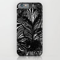 iPhone Cases featuring black stripes chaos by Matthias Hennig
