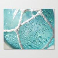 Blue Rain Drops Canvas Print