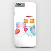 Love Birds - One Heart - Owl Couple iPhone 6 Slim Case