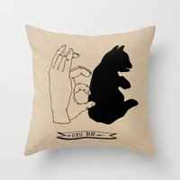Hand-shadows Throw Pillow