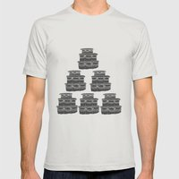 Cake And Flowers Mens Fitted Tee Silver SMALL
