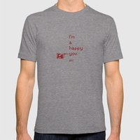 I'm A Happy You Mens Fitted Tee Tri-Grey SMALL