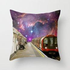 Sitting, Waiting, Wishing - London Tube Series Throw Pillow