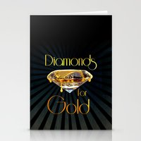 Diamonds for Gold Minimal Stationery Cards