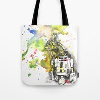 C3PO And R2D2 From Star … Tote Bag