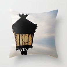 Happy Lamp Throw Pillow