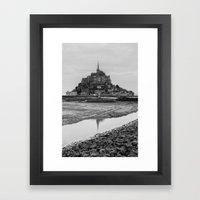 Mont-Saint-Michel Framed Art Print