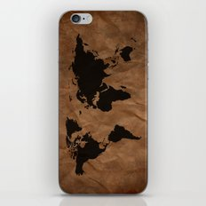 Old Wrinkled World Map iPhone & iPod Skin