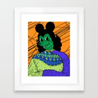 THE GREEN LADY. Framed Art Print