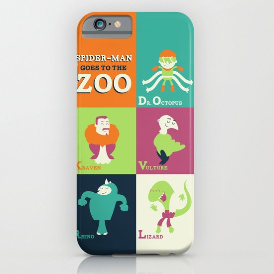 Spidey Goes to the Zoo iPhone & iPod Case