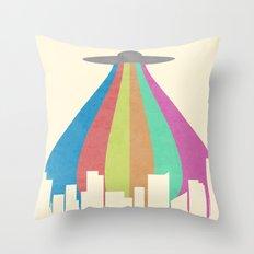 The Melting Beam Throw Pillow