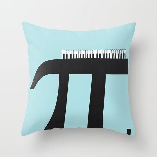 Pi_ano Throw Pillow