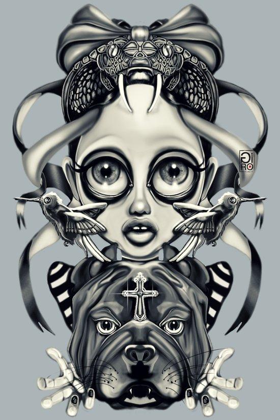 """""""Tattoeums III"""" Art Print"""