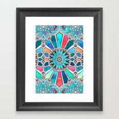 Iridescent Watercolor Brights on White Framed Art Print