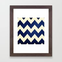 Fleet Week - Navy Chevron Framed Art Print