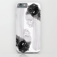 iPhone & iPod Case featuring selene and eos (black and white) by cardboardcities