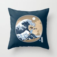 The Great Wave of Republic City Throw Pillow