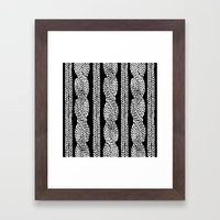 Cable Row Black Framed Art Print