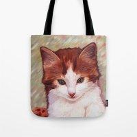 Copper Kitten Tote Bag