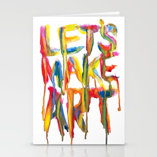 LET'S MAKE ART Stationery Card