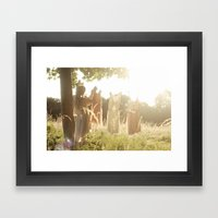 The lost fairy Framed Art Print