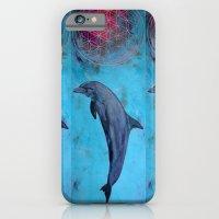 dolphin - turquoise iPhone 6 Slim Case