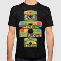 Retro Overload Mens Fitted Tee Tri-Black SMALL