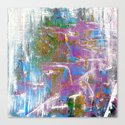 Sky Dive - colorful abstract painting. Canvas Print